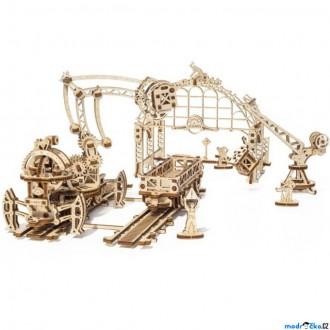 Stavebnice - 3D mechanický model - Železniční jeřáb, Manipulátor (Ugears)