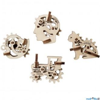 Stavebnice - 3D mechanický model - U-Fidget, Tribiks 4ks (Ugears)