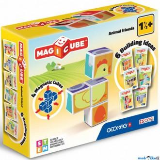Stavebnice - Geomag - Magicube, Zvířátka 4 kostky