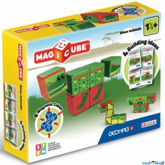 Stavebnice - Geomag - Magicube, Obojživelníci 6 kostek