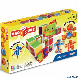 Stavebnice - Geomag - Magicube, Roboti 11 kostek