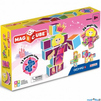 Stavebnice - Geomag - Magicube, Princezny 11 kostek