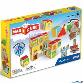 Stavebnice - Geomag - Magicube, Hrady a domy 16 kostek