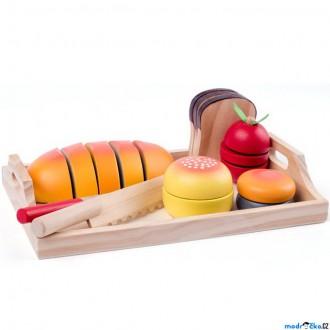 Dřevěné hračky - Krájení - Tác se snídaní (Woody)