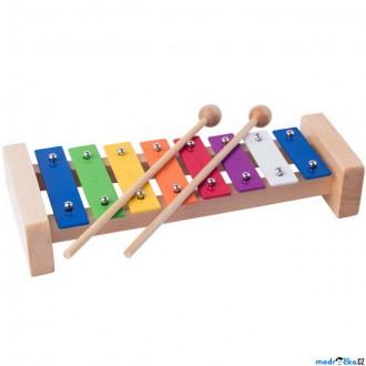 Dřevěné hračky - Hudba - Xylofon 8 tónů, Kovový (Woody)