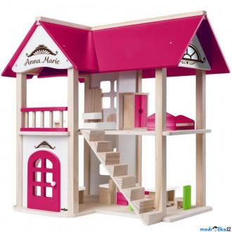 Dřevěné hračky - Domeček pro panenky - Vila Anna-Marie (Woody)