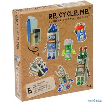 Dřevěné hračky - Kreativní sada - Re-cycle-me, Roboti