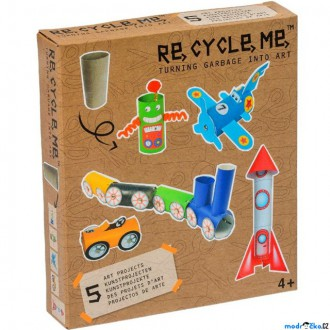 Dřevěné hračky - Kreativní sada - Re-cycle-me, Pro kluky, Role od toaletního papíru