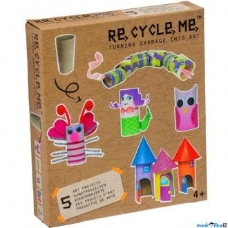 Dřevěné hračky - Kreativní sada - Re-cycle-me, Pro holky, Role od toaletního papíru