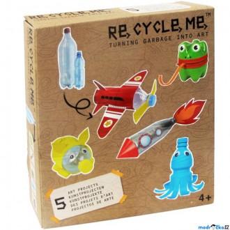 Dřevěné hračky - Kreativní sada - Re-cycle-me, Pro kluky, PET lahev