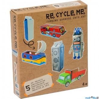 Dřevěné hračky - Kreativní sada - Re-cycle-me, Pro kluky, Krabice od mléka