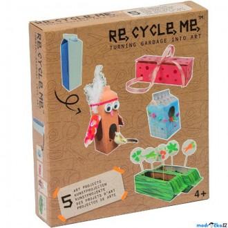 Dřevěné hračky - Kreativní sada - Re-cycle-me, Pro holky, Krabice od mléka