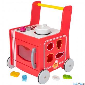 Dřevěné hračky - Chodítko dřevěné - Kuchyňka červená (Legler)