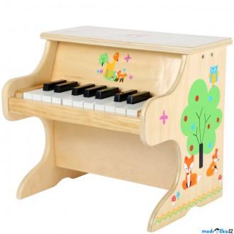 Dřevěné hračky - Hudba - Klavír dětský, Přírodní s liškou (Legler)