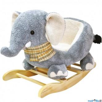 Pro nejmenší - Houpadlo - Houpací slon, Plyš (Bino)