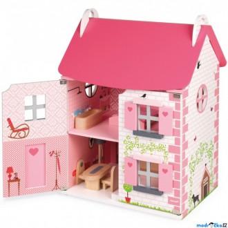 Dřevěné hračky - Domeček pro panenky - Dům Mademoiselle (Janod)