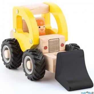 Dřevěné hračky - Auto - Bagr dřevěné autíčko (Woody)