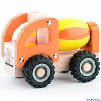 Dřevěné hračky - Auto - Míchačka dřevěné autíčko (Woody)