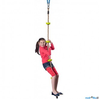 Na ven a sport - Lezecké lano - Šplhací lano s úchyty, 200cm (Woody)