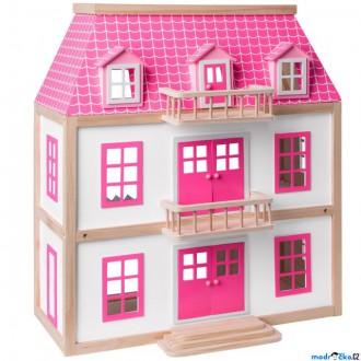 Dřevěné hračky - Domeček pro panenky - Vila Wisteria (Woody)