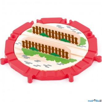 Vláčkodráhy - Vláčkodráha koleje - Točna, Velká dřevo/plast 8 směrů (Woody)