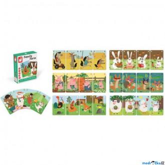 Ostatní hračky - Společenská hra - Family Farm, Kvarteto zvířátka (Janod)