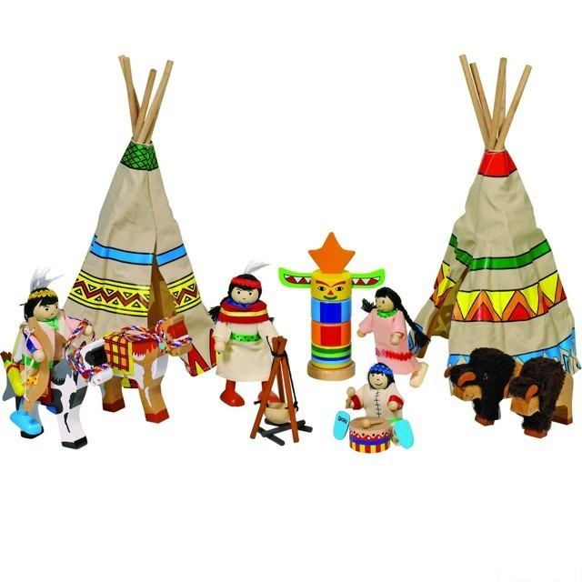 Panenky Do Domecku Indiani Ve Vesnici 14 Dilu Goki Goki