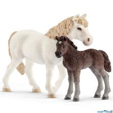 Schleich - Kůň, Dartmoorský pony kobyla a hříbě