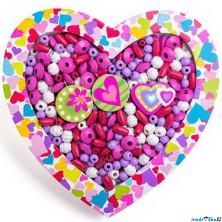 Navlékací perle - Set korálků, Srdce velké (Woody)