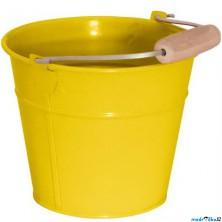 Zahradní nářadí - Kyblík žlutý, kov (Woody)
