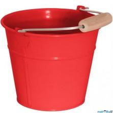 Zahradní nářadí - Kyblík červený, kov (Woody)