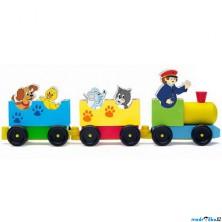 Vlak skládací - Vláček se zvířátky (Woody)