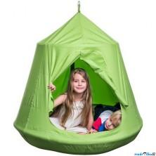 Houpačka - Ptačí hnízdo zelené, závěsný stan (Woody)