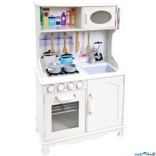 Kuchyň - Dětská kuchyňka dřevěná Provance bílá (Bino)