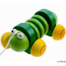 Tahací hračka - Klepačka, Zelený červík (Woody)