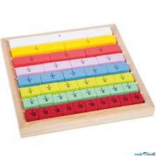 Puzzle výukové - Zlomky kostky, 39ks (Legler)