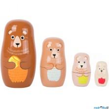 Dřevěná hračka - Matrjoška, Medvědí rodina (Legler)