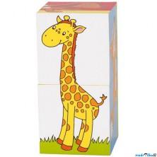 Kostky obrázkové 2ks - Zvířátka (Goki)