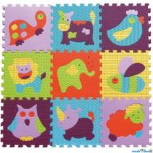 Puzzle pěnové - 30x30cm, 9ks, Zvířata