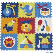 Puzzle pěnové - 30x30cm, 9ks, Cirkus