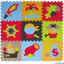 Puzzle pěnové - 30x30cm, 9ks, Pirát