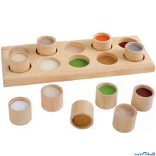 Didaktická pomůcka - Hmatová hra na desce, 10 dílů (Legler)