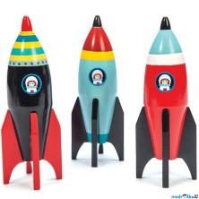 Raketa - Dřevěná barevná, 1ks (Le Toy Van)