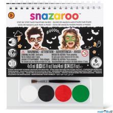 Snazaroo - Sada 4 barev na obličej, Halloween