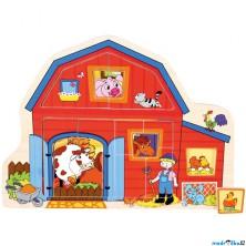 Puzzle odkrývací - Stodola na farmě (Bino)