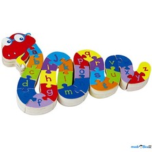 Puzzle výukové - Had Ferda s písmeny (Woto)