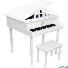 Hudba - Klavír dětský, Grand piáno bílé (Vilac)