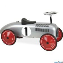 Odrážedlo kovové - Historické závodní auto, šedé (Vilac)