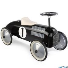 Odrážedlo kovové - Historické závodní auto, černé (Vilac)