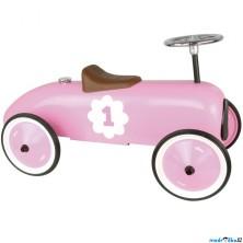 Odrážedlo kovové - Historické závodní auto, růžové (Vilac)
